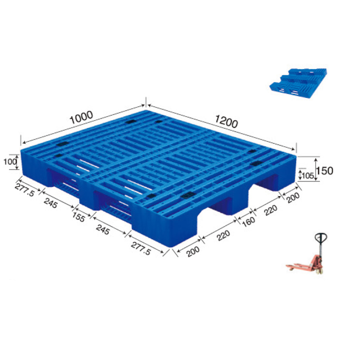 Durable  Various Sizes shopping Mall Display Plastic pallet