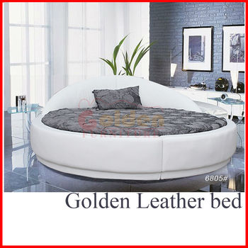 New Design B6805 Bed Round Shaped Low Prices