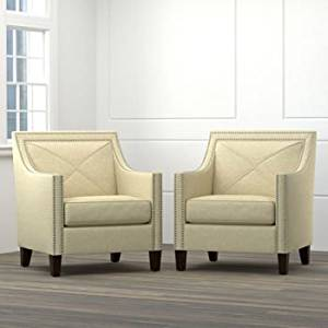 Get Quotations · Accent Chairs For Living Room 2 Pack Of Victor Collection  Featuring Wood Frame Construction,