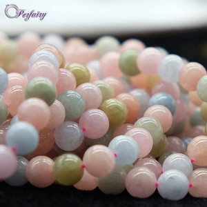 8mm mix color natural african wedding beryl beads morganite stone jewelry for design