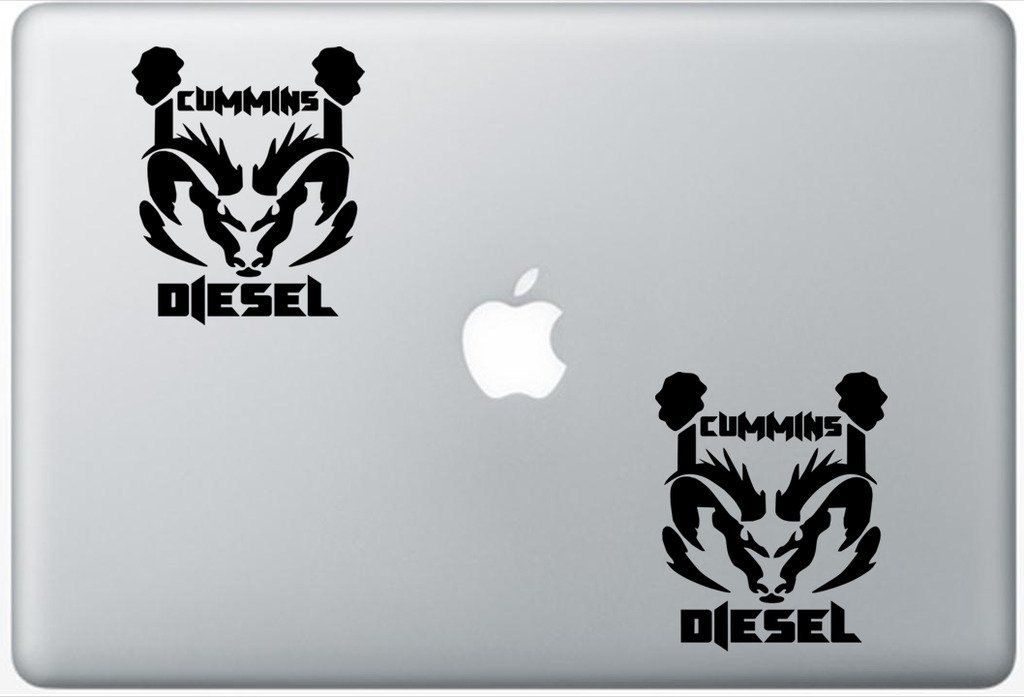 Dodge Ram Cummins Diesel FlashDecals0067 Set Of Two (2x) , Decal , Sticker , Laptop , Ipad , Car , Truck