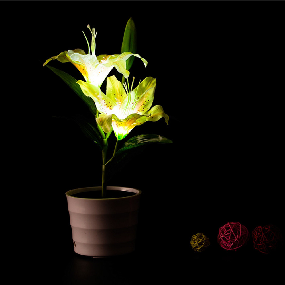 Lights & Lighting Trustful Blossom Artificial Potted Orchid Flower Battery Operated Home Garden Led Light Energy Saving Lighted Table Balcony Arrangement