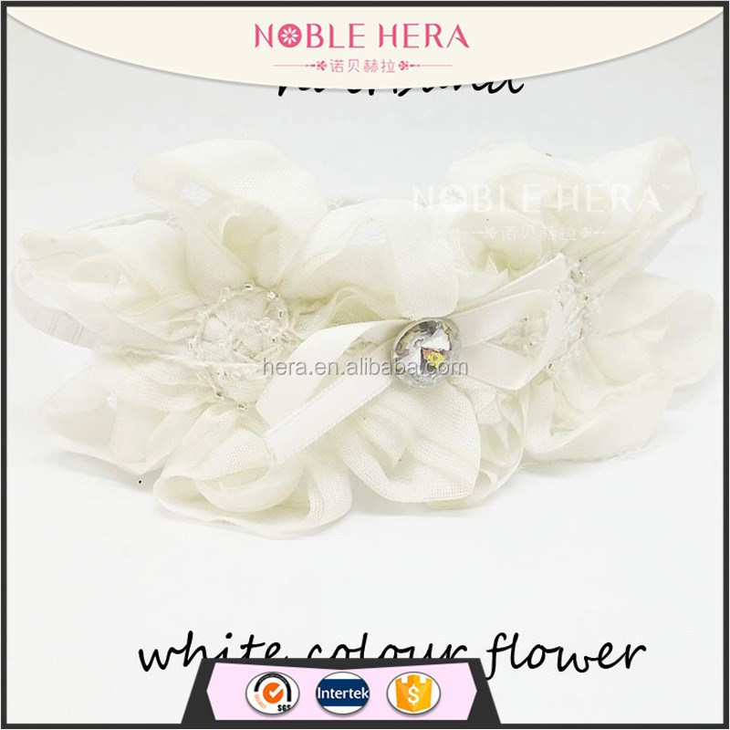 OEM Hight Quality Handmade Silk Flower Rhinestone Center Bridal Flower <strong>Headband</strong>