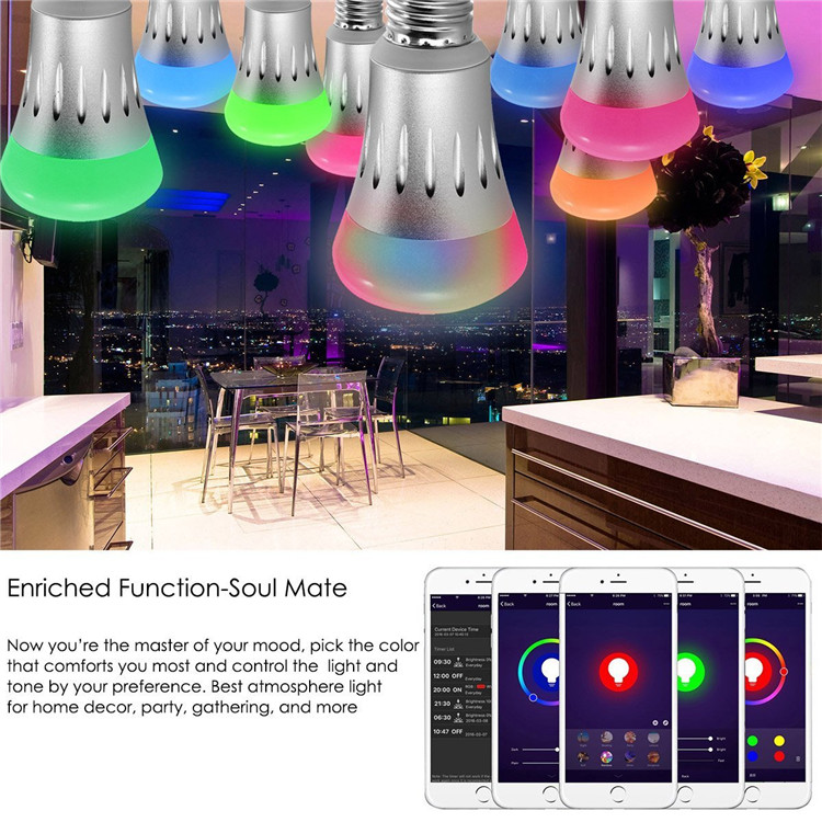 2019 hot new products smart home lighting wireless WIFI RGB led lights led wifi E27 smart light bulb made in China
