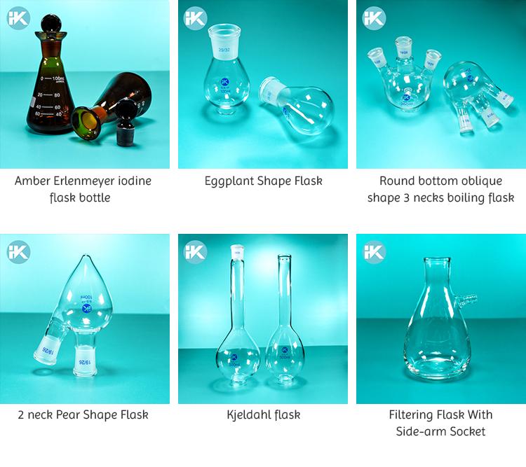 HK Su Misura 500ml a terra Standard di vetro bocca Iodio boccetta con tutto il beccuccio