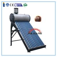 Solar keymark approved pre-heated copper coil solar water heater