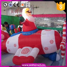 Popular Outhouse New Year Holiday Inflatable Decoration Cartoon For Event Party