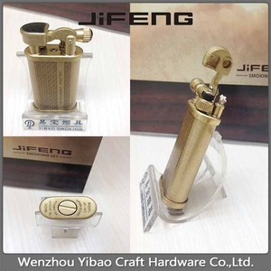 Universal retro metal windproof turbo inflatable gas cigar lighter