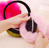 The winter warm cold after wearing earmuffs Shifang Rabbit Plush earmuffs cover cute female couple solid folding wholesale
