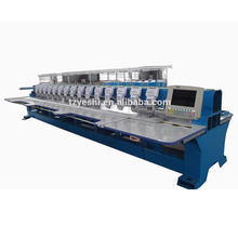 Hot koop product 450mm Hoofd <span class=keywords><strong>Interval</strong></span> 15 heads 6 naalden platte borduurmachine