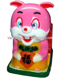 Coin Operated Kiddie Ride Red Bunny for Sale