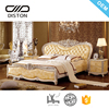 Luxury modern royal designs custom made bed leather king size bed