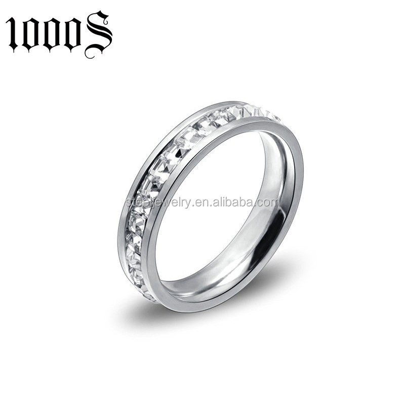 customized size stainless steel wedding ring with rose gold plated