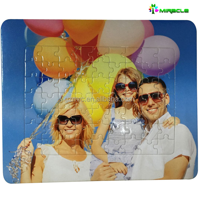 2016 best-selling in European market sublimation blank wooden puzzle