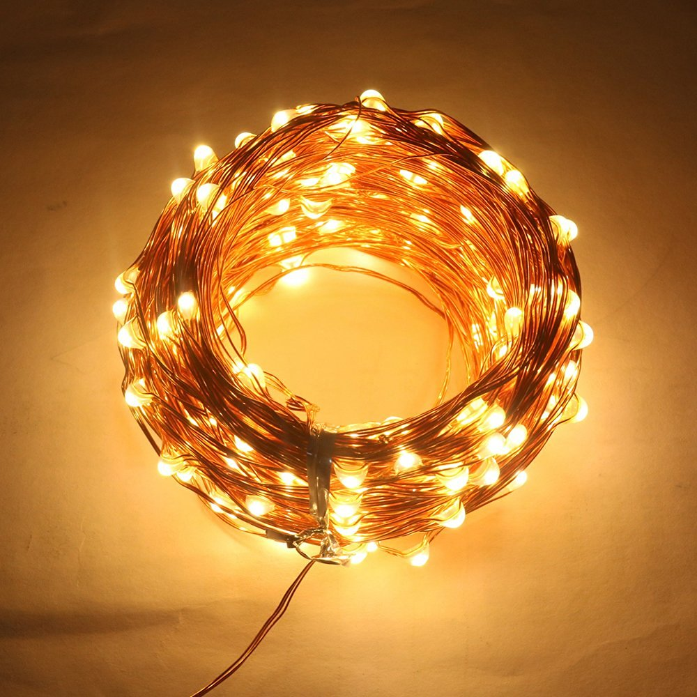 Led String Lights Jeasun Xmas With Wireless Remote Control 33ft