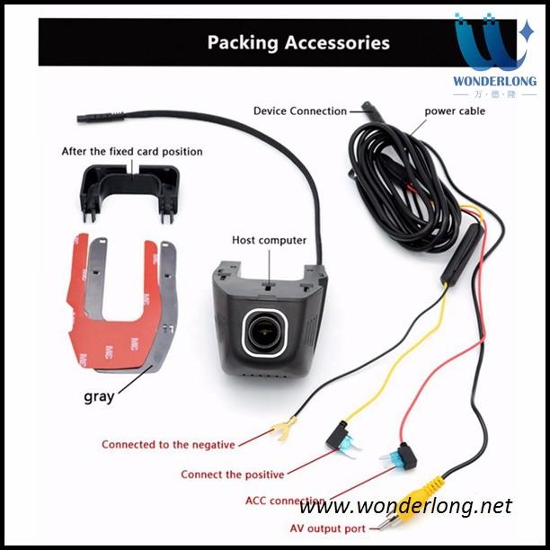 Car Electronics Accessories WiFi Hidden Car Vehicle DVR 1080P HD Camera Video Recorder Dash Cam Night Vision
