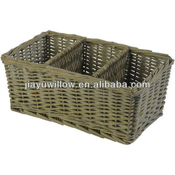 Natural Wicker Cane Divided Storage Basket Buy Divided Basket Storage Basket With Dividers
