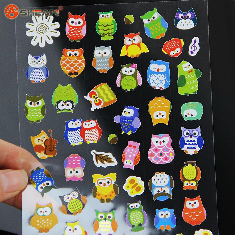 1pcs DIY Cartoon Giraffe transparent Sticker Lovely Calendar Deco Owl Sticker Writing Memo Pad for Children