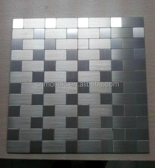 L And Stick Brushed Aluminum Mosaic Tile For Wall Aluminium Product