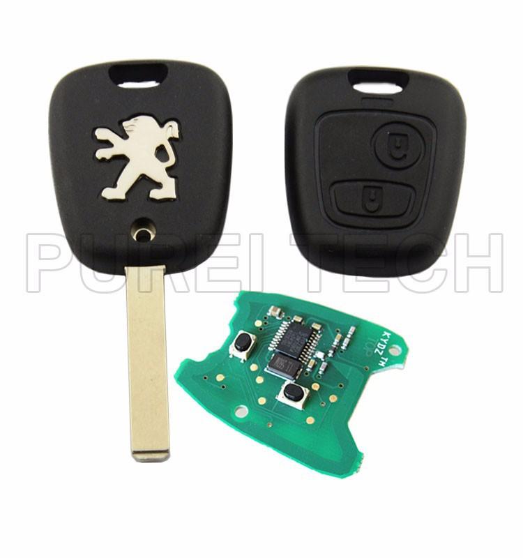 voiture peugeot 307 t l commande de la cl de contr le avec carte lectronique et puce 433 mhz. Black Bedroom Furniture Sets. Home Design Ideas