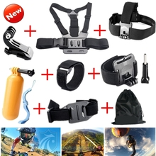 Gopro Accessories Chest Head Strap Monopod Floating Bobber Mount for Go pro Hero 4 3+2Xiaomi Yi SJCAM Sj4000 black edition GS22