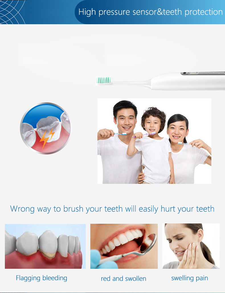 OEM rechargeable type portable promotional daily use travel style Adult electric toothbrush personalized electric toothbrush