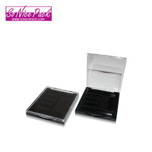 Wholesale square 5 colors empty private label eyeshadow palette with clear cap