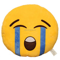 Emoji Smiley Emotion Stuffed Plush Toy Yellow Round Cushion Pillow