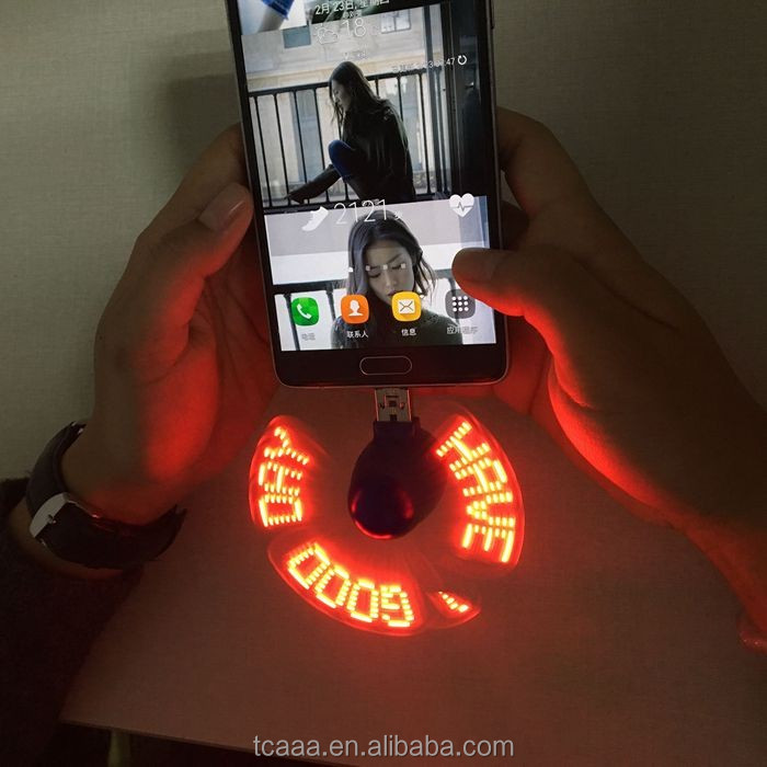New design portable program RoHS CE led display fan