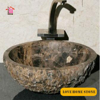 Natural stone wash basin,river stone granite bathroom sink