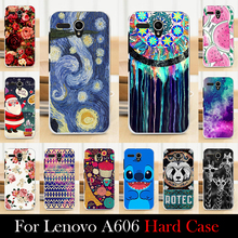 For LENOVO A606 Case Hard Plastic Mobile Phone Cover Case DIY Color Paitn Cellphone Bag Shell  Shipping Free