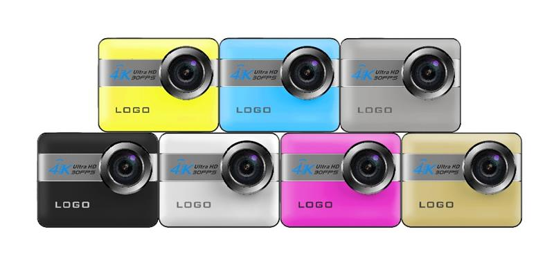FX-N6 miniature camera 4k 2.31 inch touch lcd 20MP waterproof 50m wifi H264 JPEG clip camera
