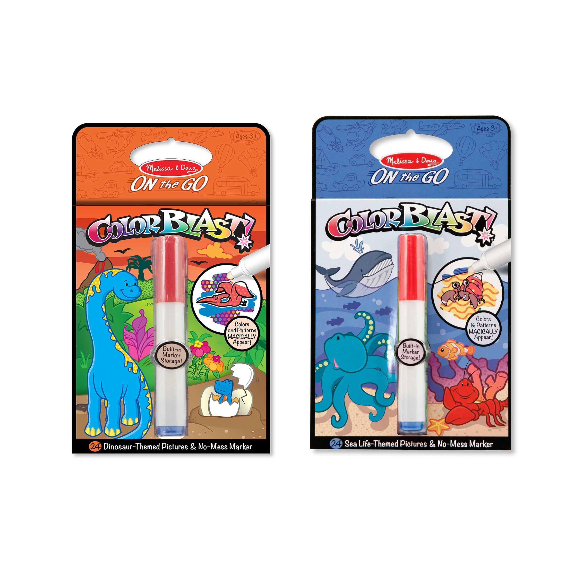 Buy Melissa Doug Colorblast Sea Life And Dinosaurs Color Reveal