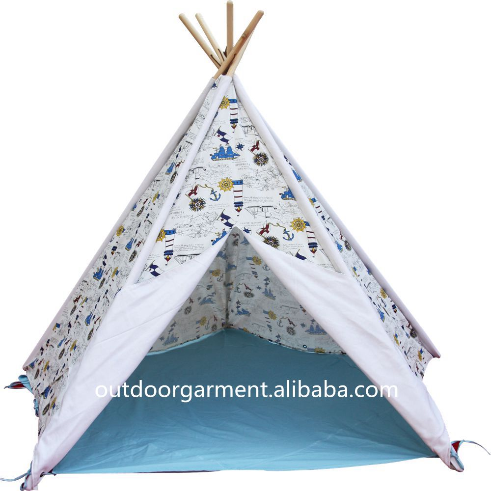 TP25Zhejiang Tulip 100% cotton canvas fabric wholesale tent indoor kids play teepee tents for sale