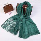 Fashionable custom style cotton or wool 100% material shawl cotton scarf for women/ladies