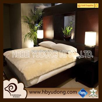 sheepskin mattresses 22mm wool length sheepskin bed pad with