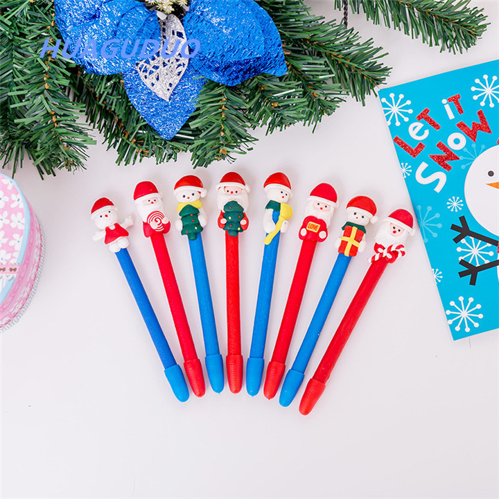 Britain best selling new innovative stationery product promotional gift pen Creative software Santa Claus all kinds of ball pens