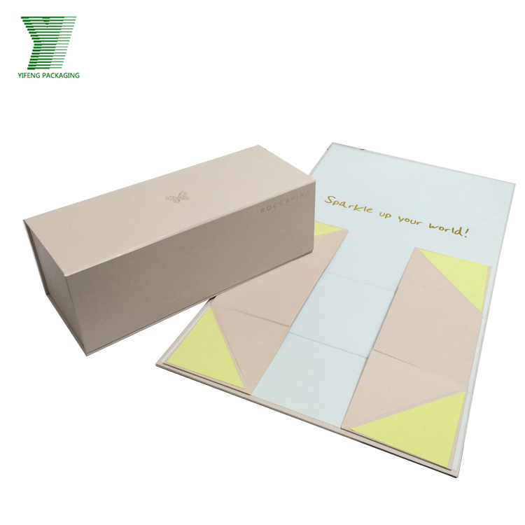 Elegant Handmade Customized Hard Cardboard Folding Boxes With Butterfly Logo