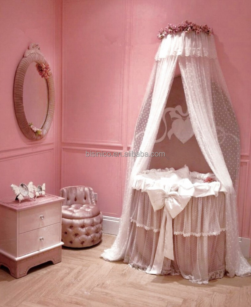 moderne runde babykorbwiege prinzessin rosa babybett. Black Bedroom Furniture Sets. Home Design Ideas