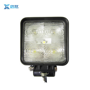 Heavy duties EMC E-mark approved square LED work light for agriculture off road mining vehicles
