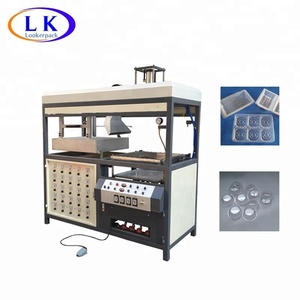 Plastic blister container clamshell forming machine
