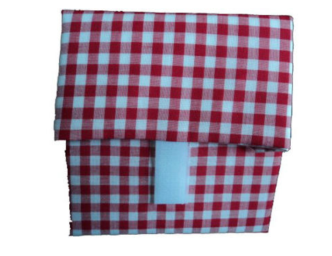 sandwich wrapper gingham pattern fabric lunch bag