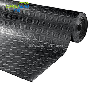 Anti Slip Fine Thin Narrow Ribbed Corrugated Rubber Sheet/Rubber Flooring Roll