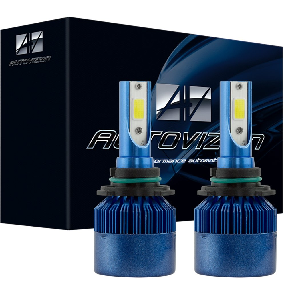Autovizion C6 9005 High Power LED headlight bulb conversion kit (1 pair bulb, ultrawhite, also fit HB3, 9011, 9055, h12, 9145)