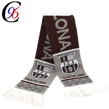 Chengxing Brand factory sale custom design scarf soccer fan knitting scarf 100% acrylic football scarves