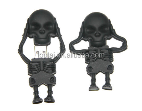 Black Skeleton Skull Shape 32GB USB Flash Drive 2.0 Memory Stick Storage 32 GB