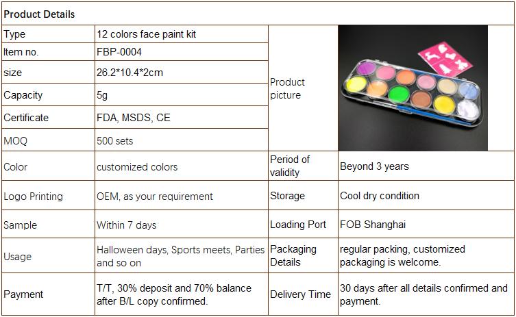 สี 12 สี, 30 Stencils, 2 แปรงที่ดีที่สุดมูลค่าชุดระบายสีใบหน้าสำหรับเด็ก | สดใสน้ำปลอดสารพิษ FDA