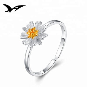 latest designs adjustable silver jewellery flower band rings