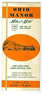 Ohio Manor Motorist Motel Brochure 1950's Cleveland Ohio