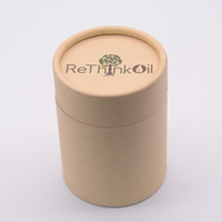 Custom Printing Gift Packaging Round Kraft Paper Tube Packaging For T-shirt